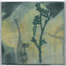 Reverse, 8 x 8 inches, archival pigment print and encaustic on panel
